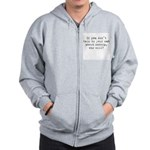 Talk to your cat about catnip Zip Hoodie