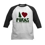 I Heart Forks, WA - Twilight Kids Baseball Jersey
