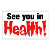 See You In Health! Rectangle Sticker
