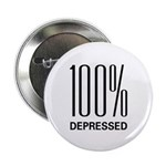 """100 Percent Depressed 2.25"""" Button (100 pack)"""
