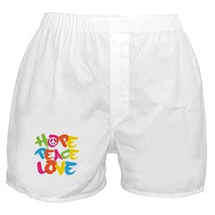 Hope Peace Love Boxer Shorts