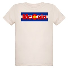Colorado for McCain Organic Kids T-Shirt