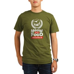 Meow For Food Program Organic Men's T-Shirt (dark)
