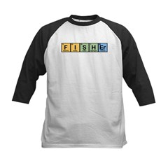 Fisher made of Elements Kids Baseball Jersey