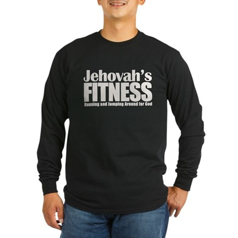 Jehovah's Fitness Long Sleeve Dark T-Shirt