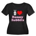 I Love Runny Babbits Women's Plus Size Scoop Neck Dark T-Shirt
