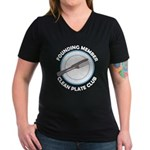 Clean Plate Club Founder Women's V-Neck Dark T-Shi