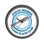 Clean Plate Club Member Wall Clock