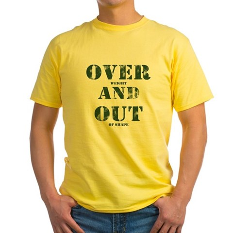 Over & Out Yellow T-Shirt