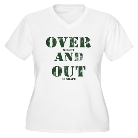 Over & Out Women's Plus Size V-Neck T-Shirt