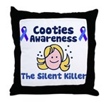 Cooties Awareness Throw Pillow