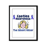 Cooties Awareness Framed Panel Print