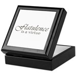 Flatulence Is A Virtue Keepsake Box