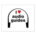 I Love Audio Guides Small Poster