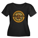 Astrological Sign Women's Plus Size Scoop Neck Dark T-Shirt