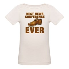 Anti-Bush Best News Conference Ever Shoe Incident Organic Baby T-Shirt