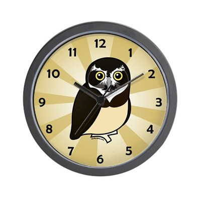 Birdorable Spectacled Owl Wall Clock