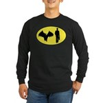 Bat Man Long Sleeve Dark T-Shirt