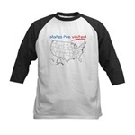States I've Been To Kids Baseball Jersey
