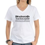 I Was Saved By The Sound Of Michael's Song Women's V-Neck T-Shirt