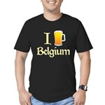 I Love Belgium (Beer) Men's Fitted T-Shirt (dark)