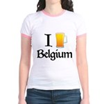 I Love Belgium (Beer) Jr. Ringer T-Shirt