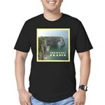 Normandy, France Men's Fitted T-Shirt (dark)