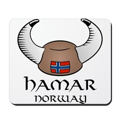 Hamar Norway Viking Hat (color) Mousepad