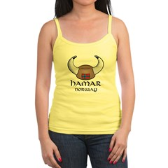 Hamar Norway Viking Hat (color) Jr. Spaghetti Tank