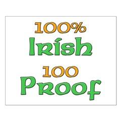 100% Irish 100 Proof Small Poster