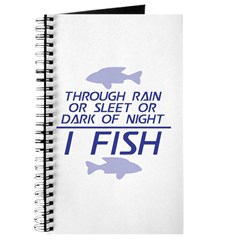 Through Rain... I Fish Journal