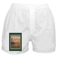 Visit Beautiful Alaska Boxer Shorts