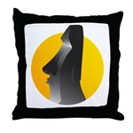 Easter Island Statue Throw Pillow