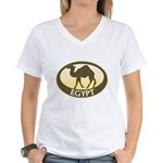 Egyptian Camel Women's V-Neck T-Shirt