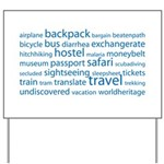 Travel Tag Cloud Yard Sign