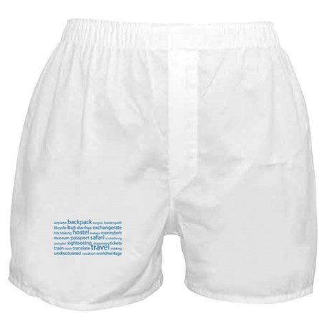 Travel Tag Cloud Boxer Shorts