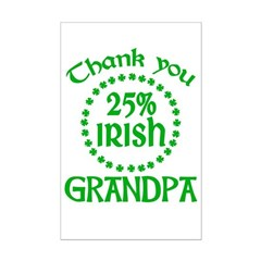 25% Irish - Thank You Grandpa Mini Poster Print