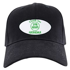 25% Irish - Thank You Grandma Black Cap