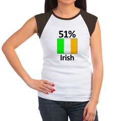 51% Irish Women's Cap Sleeve T-Shirt