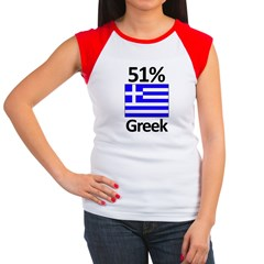 51% Greek Women's Cap Sleeve T-Shirt