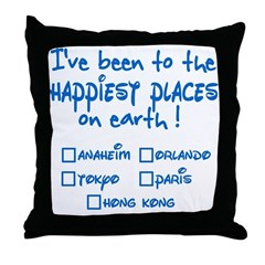 Happiest Places on Earth Throw Pillow