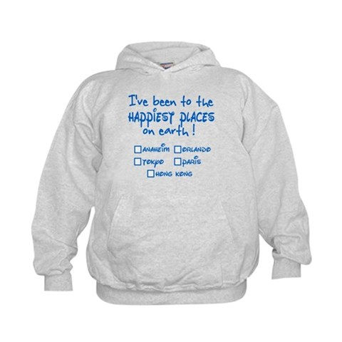 Happiest Places on Earth Kids Hoodie