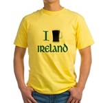 I Love Ireland (beer) Yellow T-Shirt