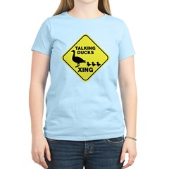 Talking Ducks Crossing Women's Light T-Shirt