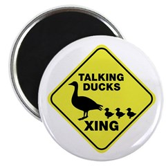 Talking Ducks Crossing Magnet
