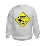 Talking Ducks Crossing Kids Sweatshirt