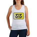313 License Plate Women's Tank Top