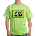 313 License Plate Green T-Shirt