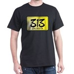 313 License Plate Dark T-Shirt