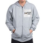 I Love Square Eggs Zip Hoodie